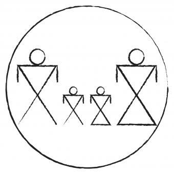 Native American Circle Family Symbol