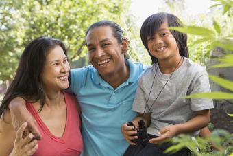 Modern Native American family