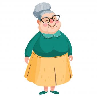happy standing grandma