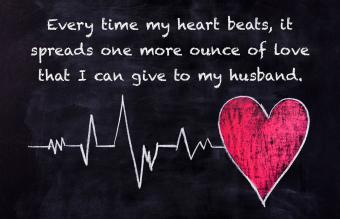 Heartbeat and heart shape on chalk board
