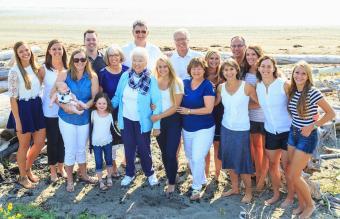 Family reunion portrait