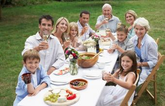 Family dinner portrait