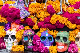 Day of the Dead celebrations altar decorations in Mexico City