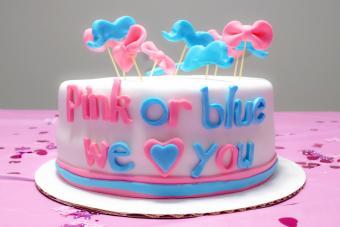 Baby gender reveal cake...boy or girl?