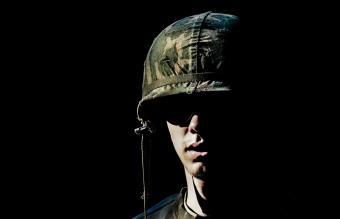 Soldier portrait in Vietnam War era