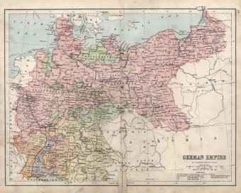 map of German Empire 19th Century