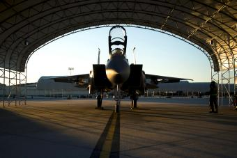 Eagle aircraft waits to take part in a training mission at Seymour Johnson Air Force Base, North Carolina