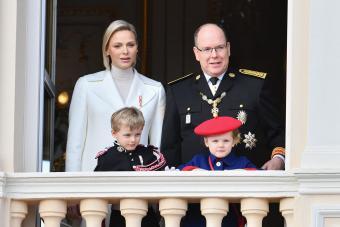 Prince Albert II of Monaco with family