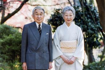 Emperor Akihito Emeritus and Empress Michiko Emerita