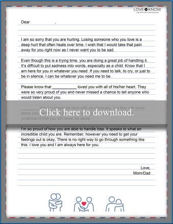Encouragement letter template for grieving