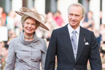 Hans-Adam II of Liechtenstein and princess Marie Aglae of Liechtenstein