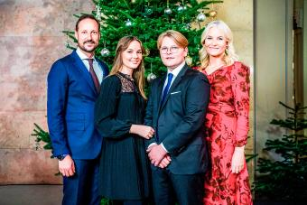 Crown Prince Haakon of Norway and his family