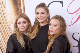 Elizabeth Olsen and Mary-Kate and Ashley Olsen attend the 2016 CFDA Fashion Awards