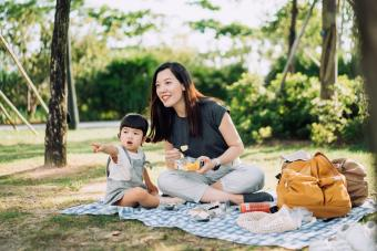 picnic on a beautiful day in park