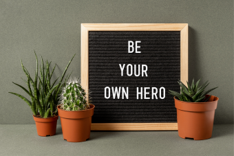 Letter board for your motivational quote