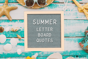 Summer quotes for letter boards