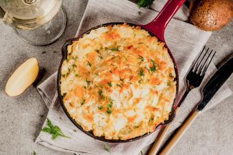 Loaded Mashed Potato Meatloaf Casserole