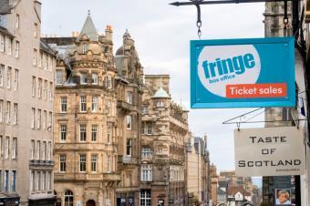 The Edinburgh Fringe shop and ticket office on Edinburgh's Royal Mile