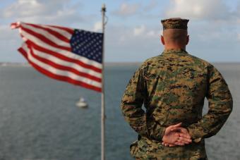 Marine aboard the USS Bonhomme Richard
