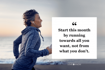 Start to a new month quote that look forward, not back