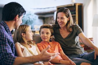 blended family having open communication