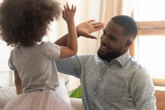 step father high five step daughter