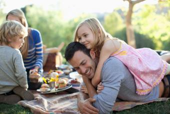 family bonding picnic in park