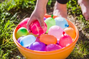 water balloons in a container