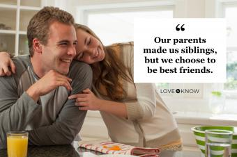 siblings and friends hugging quote