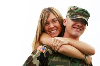 young military couple