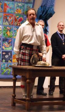Reciting Robert Burns with Haggis