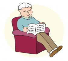 grandpa reading
