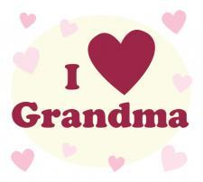 I love grandma text