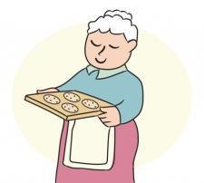 grandma with cookies