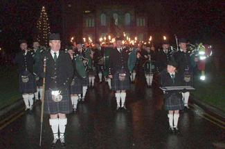Northern Constabulary Pipe Band at 2008 St. Andrew's Day Parade Inverness Castle Scotland