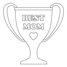black and white best mom trophy