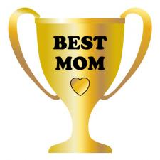 full color best mom trophy