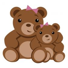 mother and daughter teddy bears