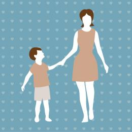 Mother and Son Clip Art