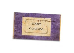 Chore coupon book