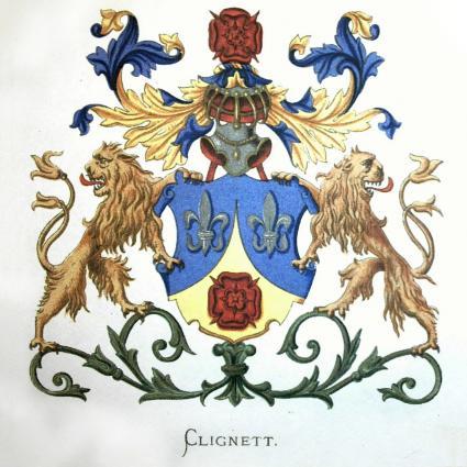 Clignett family crest