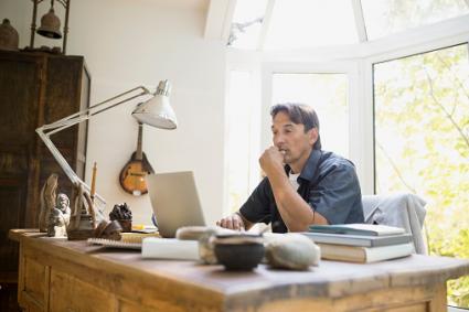 dad on laptop