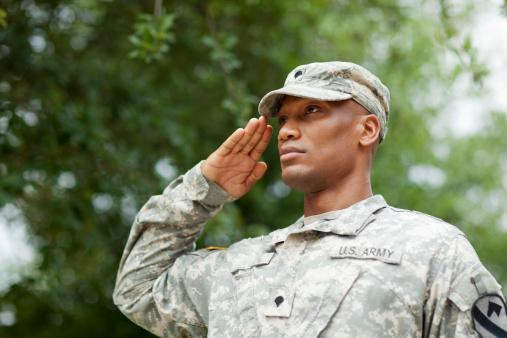 soldier saluting