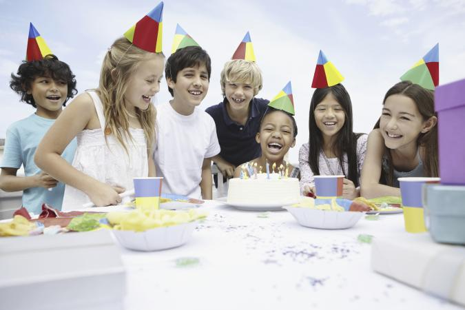 Children At A Birthday Celebration