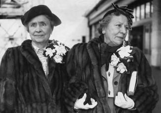 Helen Keller and Polly Thomson 1960