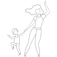mother and child dancing