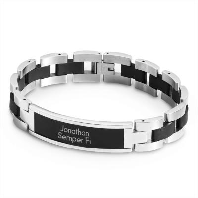 Black Matte ID Bracelet