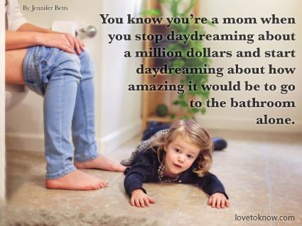Bathroom Adventure Funny Mom Quote