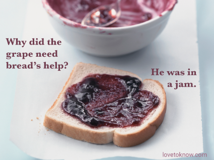 Best Dad Jokes for Kids: Bread With Grape Jam