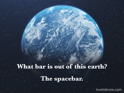 Clean Dad Jokes Out of This Galaxy And Image of the Planet Earth